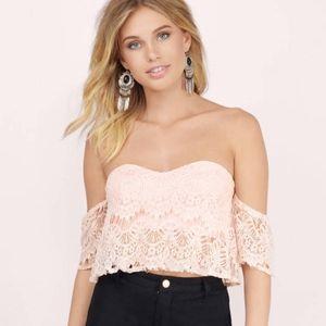 Tobi Crochet Lace Sweet On You Crop Top
